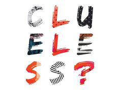 clueless type #pattern #animated #gifs #color #fashion #clueless #typography