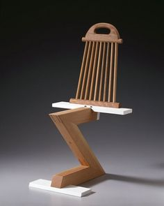 Rietveld Zig Zag Variation 15 – Thong Chair by Garry Knox Bennett — Chair Blog #zig #chair #bennett #design #zag #garry #art #rietveld #know
