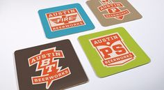 Brand Identity | Austin Beerworks | Helms Workshop #beer #coasters #branding
