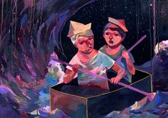 Box on Illustration Served #illustration #expression #painting #art #drawing