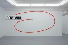 Lawrence Weiner at Micheline Szwajcer (Contemporary Art Daily) #text #conceptual #weiner #art #lawrence #typography