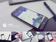 6 Free Photorealistic iPhone6 PSD mockups