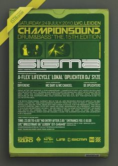 Champion Sound 15 - Flyer & Making-of on the Behance Network #typography