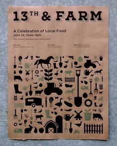 13th & FARM #rayburn #print #aaron #icons #screen #farm #poster #13thfarm