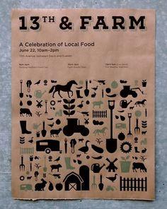 13th & FARM #print #icons #screen #farm #poster