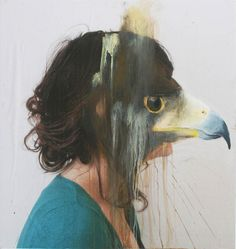 Acrylic Animal Portraits on Photos by Charlotte Caron #painting #charlotte caron