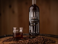 Amaro Pazzo - Long Road x Madcap Coffee Company bottle packaging madcap long road distillers coffee liqueur michigan illustration spirits amaro packaging design graphic design typography branding design art direction ___ Josh Kulchar