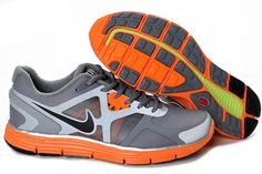 Nike Lunarglide 3 Cool GreyBlack-Total Orange-Reflective Silver Womens Shoe #shoes