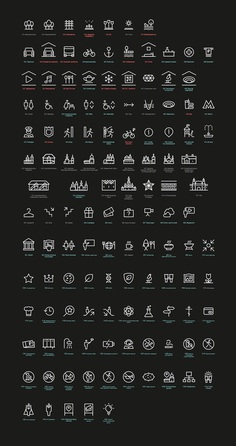 The making of the Zaryadye park navigation #icon #icons #icondesign #iconography #iconset #iconic #iconaday #pictogram #picto #piktogramm #symbol #sign #embleme #mark #brand #branding #identity #visualdesign #glyph #graphicdesign #markendesign #logotype #logodesign #illustration #illustree #minimal #geometric #designspiration