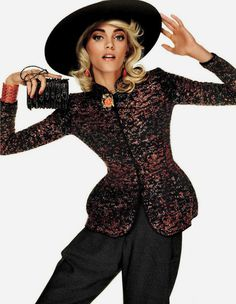 Anja Rubik Lights Up The Pages of Vogue Japan in Giorgio Armani #sexy #model #girl #glamour #photography #fashion #phography