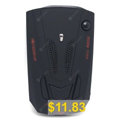 V7 #360 #Degrees #Car #Radar #Detector #GPS #Speed #Alarm #- #BLACK