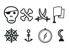 arrg #pirate #vector #skull #icons #flag #sword #anchor #compass