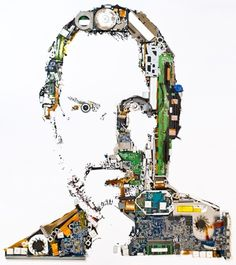 GEX - The work of Genis Carreras #macbook #steve #jobs #tribute #portrait #pro #parts