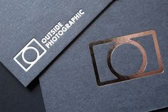 Outside Photographic | Identity Designed #branding #business cards #outside photographic
