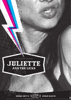 Juliette and the Licks - Gig Poster