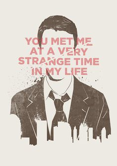 """You met me at a very strange time in my life"" - Artwork by Koning #typography #quotes #fight #norton #movies #edward #club"