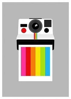 il_fullxfull.217739604.jpg 600×840 pixels #design #graphic #polaroid #illustration #rainbow