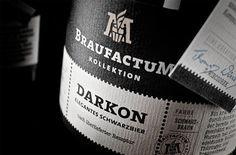 BraufactumBeer - TheDieline.com - Package Design Blog #beer #label
