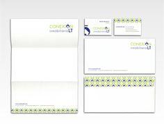 Conexión Inmobiliaria LT -Branding #branding #corporativa #corporate #identity #stationery #logo #papelera
