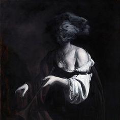 I need a guide: nicola samorì #portrait #painting #realism