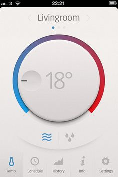 Thermostat app #design #interface #ux #ui