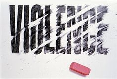 More typography inspiration! | From up North #violence #typography