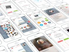 Chat iPhone App by Ramotion #user #inspiration #ux #ramotion #application #interface #ui #experience #iphone #app #mobile #gui
