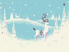 Christmas Card WIP #illustration