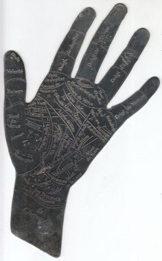 davidreno — vintage palm reading charts