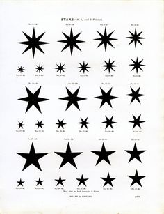Type specimen of stars by Miller & Richard