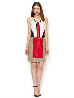 Grain Canvas Zipper Front Dress #fashion #dress #tahari #gilt