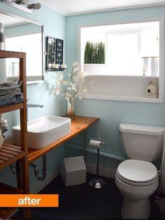 Before & After: A Bathroom Reno #small #bathroom