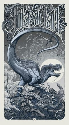 supersonic electronic / art #movie #park #jurassic #poster #dinosaur #typography