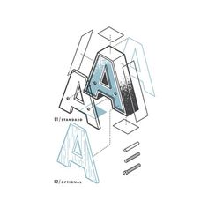 6_the exploded alphabet illustration letter a #alphabet #exploded
