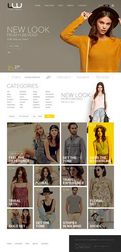 LOOKWAVE - Site Design For Lookbook on Behance #ux #look #design #ui #fashion #web #style