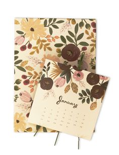 Kate's Paperie : Shop : 2013 Desk Calendar, Botanical : 0018681 : #calendar #floral #flowers
