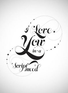 type & lettering on the Behance Network #script #poster #type #love #typography