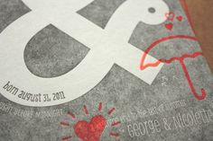 Design Work Life » Print In Cursive: Twin Birth Announcements