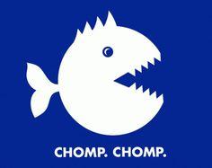 BLOG : Matt Travaille : Graphic Design | Minneapolis #piranha #icon #travaille #fish #retro #pacman #color #logo #futura #blue