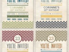 Dribbble - Invitation Postcards by Teela Cunningham #card #birthday