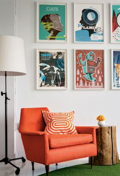Welcome to the Law Offices of Fun, Quirky, and Whimsical in main interior designCategory #interior #office #pillow #armchair #posters #law