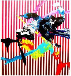 but does it float #paint #pattern #color #bright #stripes #splatter