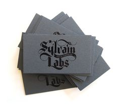 Little Fury :: Sylvain Labs #calligraphy #lettering #script #business #card #print #fury #black #little #collateral #stock #type