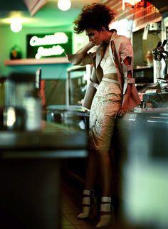 Catrina Stella by Chris Nicholls for Flare Magazine #fashion #model #photography #girl
