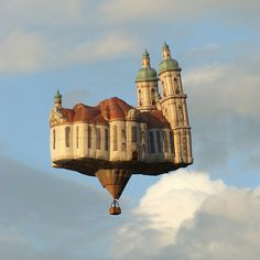 "CJWHO ™ (Flying Cathedral ""St. Gallen"" The culmination of...) #design #flying #balloon #st #architecture #art #gallen #cathedral"