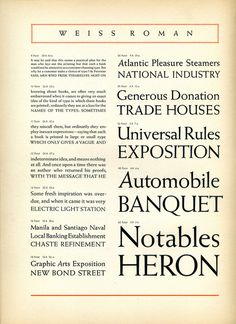 Weiss Roman type specimen #typography