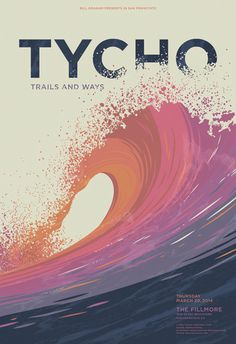 GigPosters.com - Tycho - Trails And Ways #tycho #wave