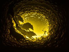 this isn't happiness™ Peteski #cut #wolves #illustration #light #paper