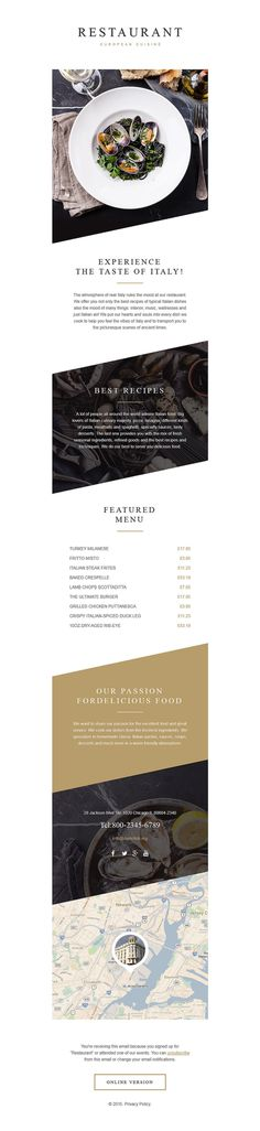 Restaurant Cafe Responsive Newsletter Template
