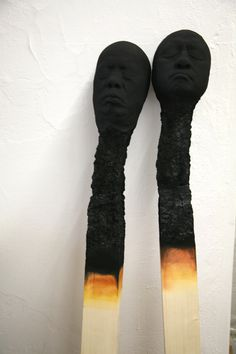 Matchsticks made by artist wolfgang stillers